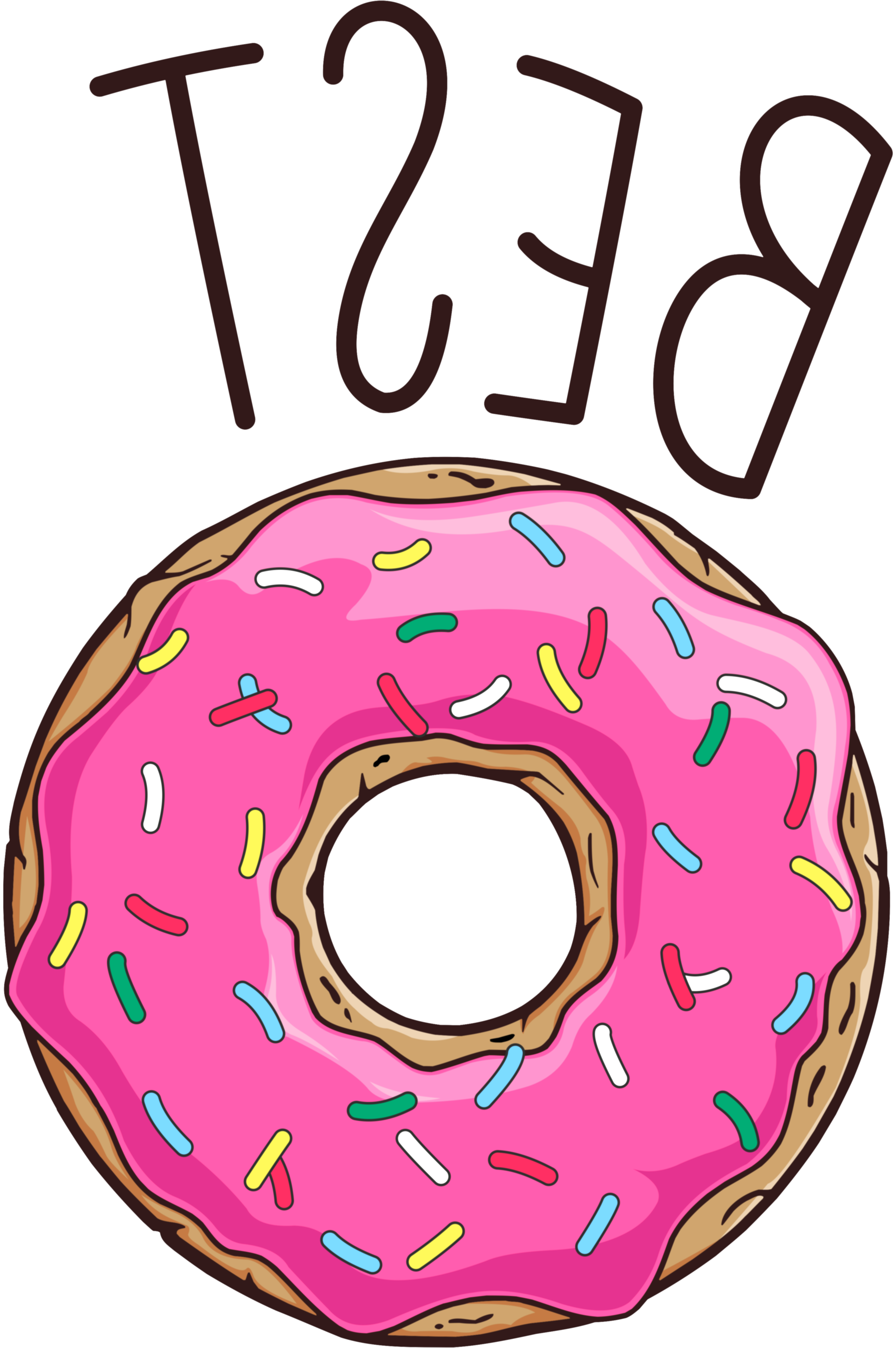 Donut and coffee friends clipart (Donut)