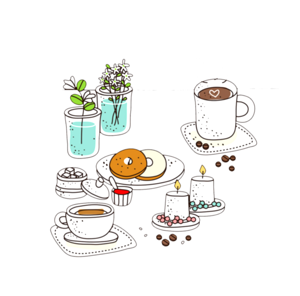 drawing coffee cafe shop