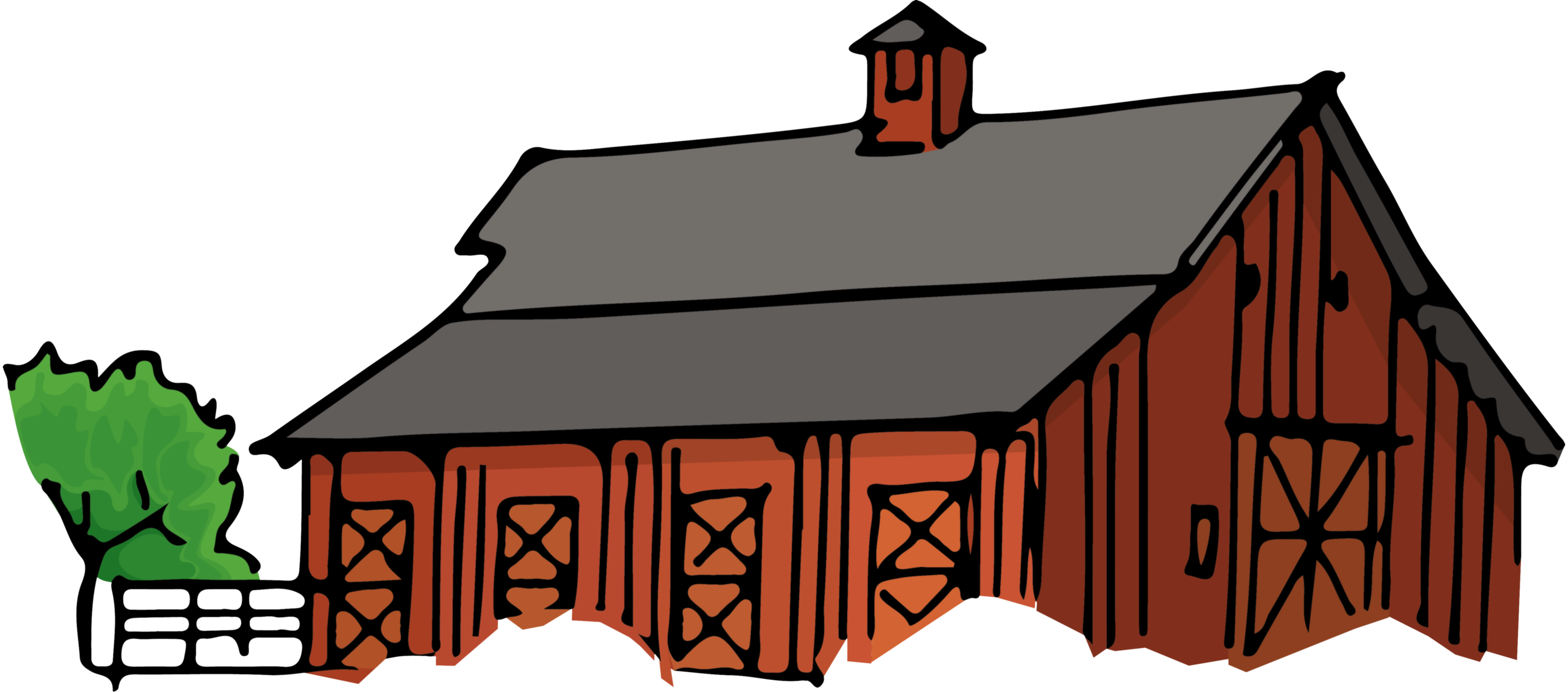 drawing farmhouse poor house