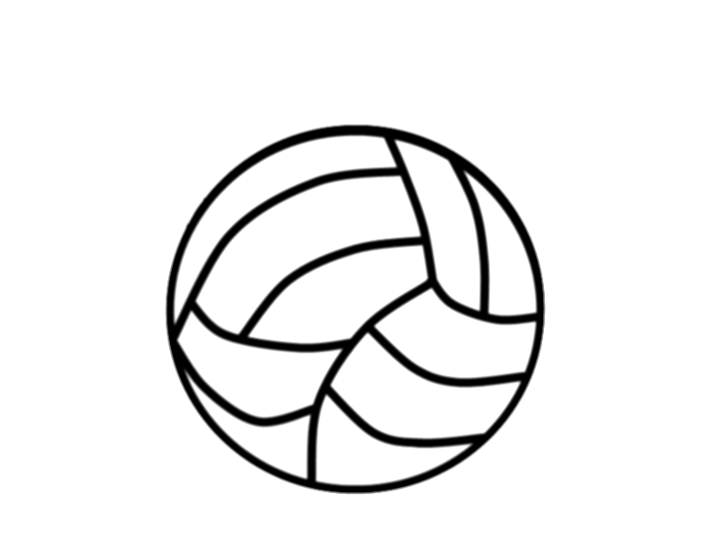drawing sports volleyball