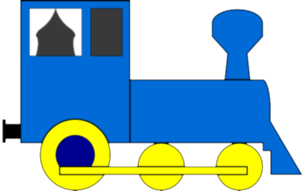drawing train simple