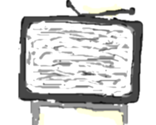 drawing tv old