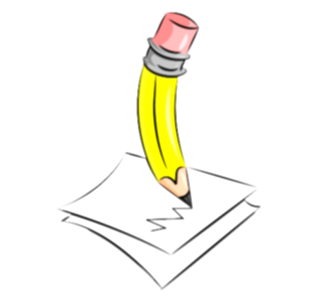 drawing writing clipart