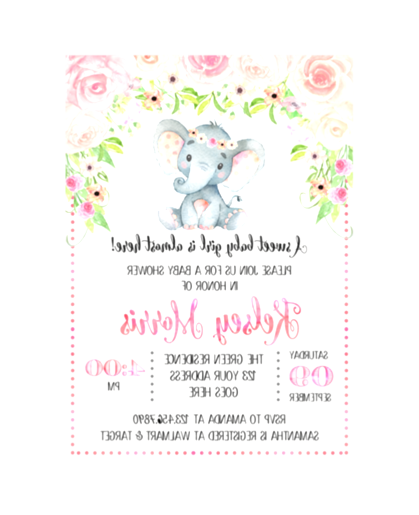 elephant baby shower png