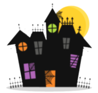 fence svg haunted house