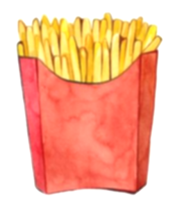 fries clipart food house