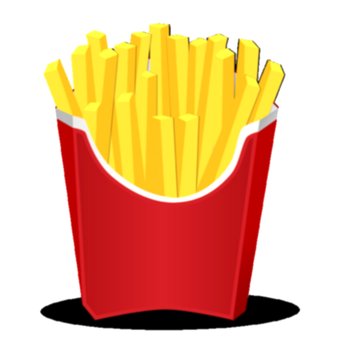 fries clipart pizza