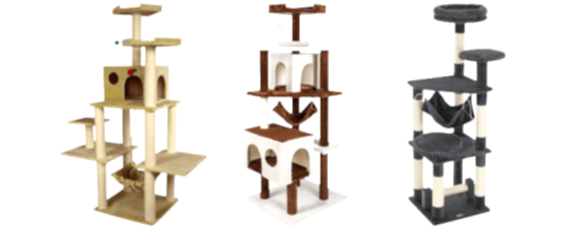 furhaven tiger tough cat tree house furniture for cats and kittens png