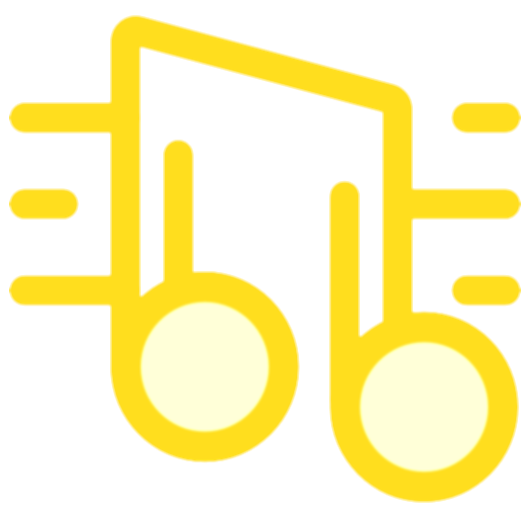 gold music notes and snowfakes png