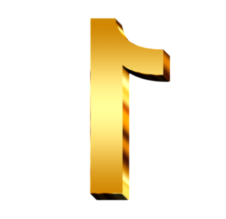 gold numbers png