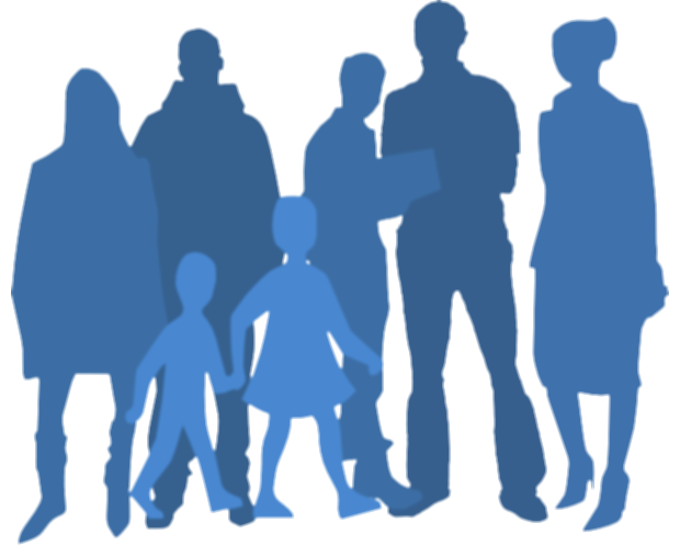 group of people silhouette png