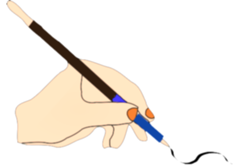 hand writing with pen png