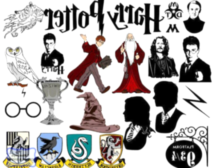 harry potter clipart collage
