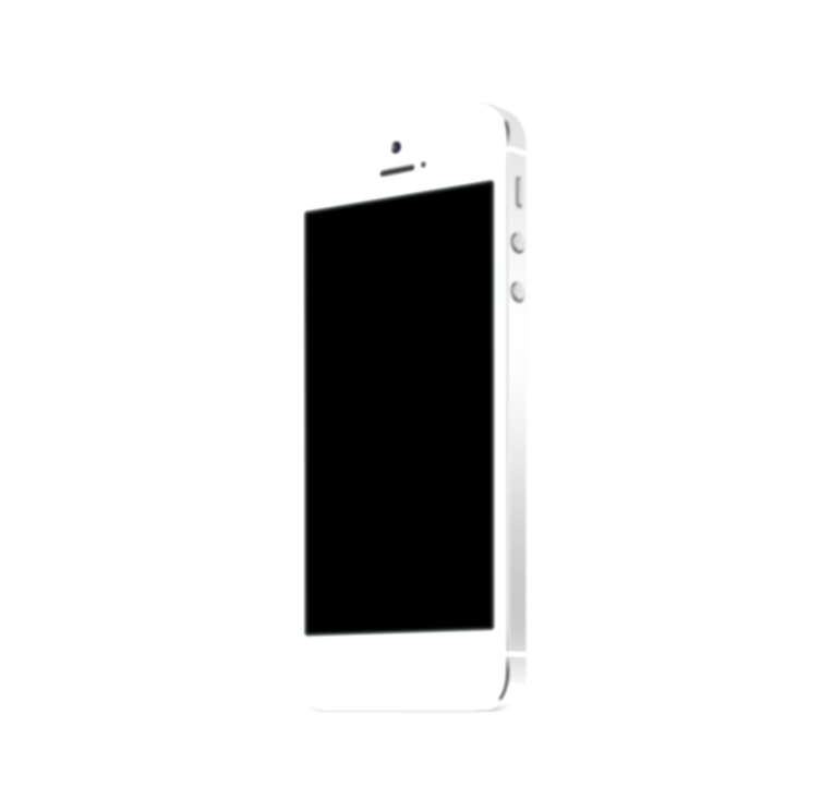 iphone 5 white png
