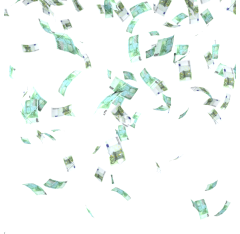 money falling from sky png