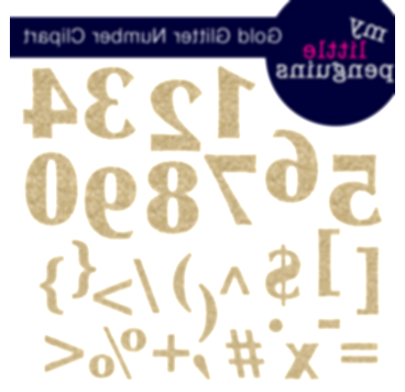 numbers clipart glitter