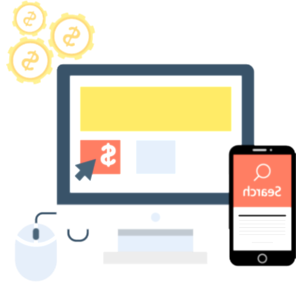 paid search icon png yellow