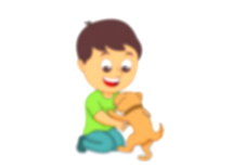 pets clipart kid girl