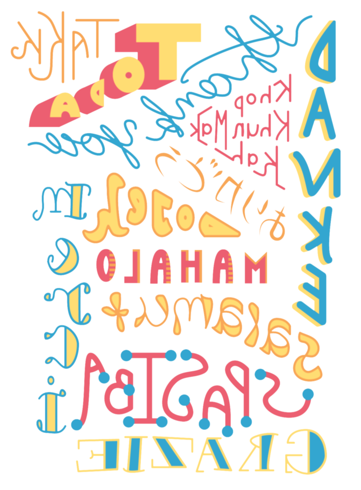 typography vector thank you
