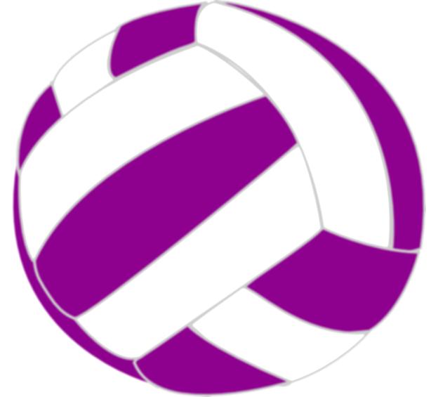 volleyball clip colorful